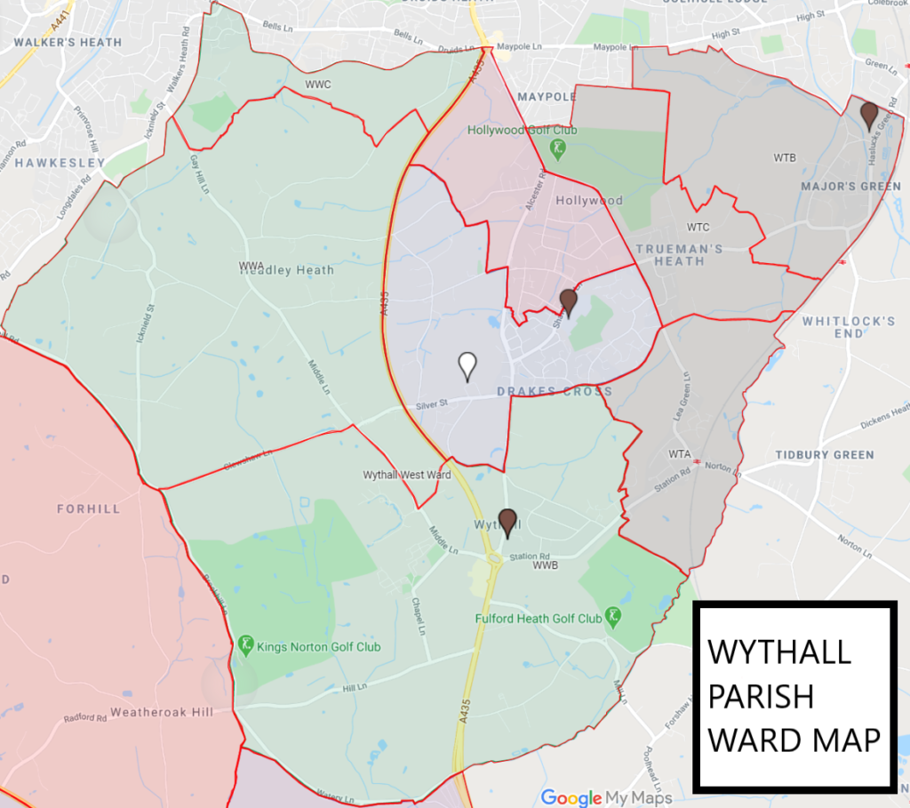 wythall parish council map