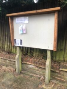 New noticeboard installed recently