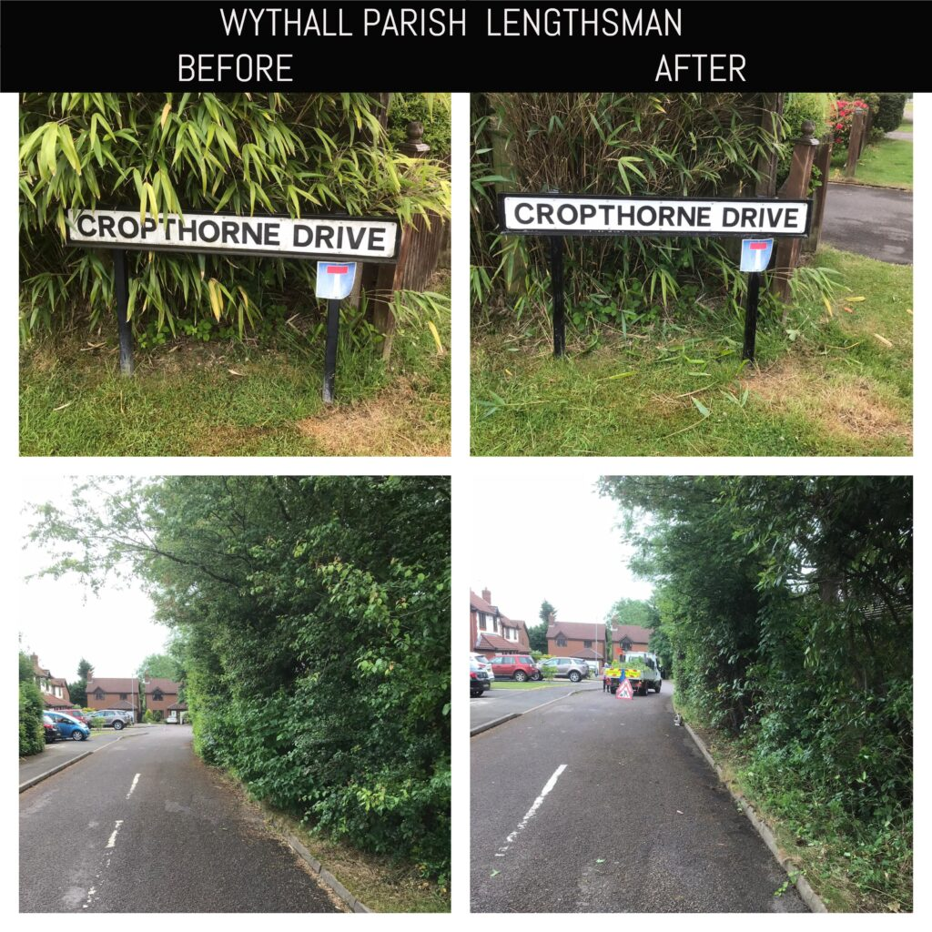 Lengthsman before and after pictures Cropthorne Drive